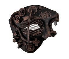 Metallic Steampunk Phantom Half Face Masquerade Mask (Copper)