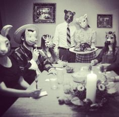 Animal masks- place settings for wedding?