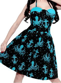 Out to Sea Octopus Dress at ShopPlasticland.com @Angie Wimberly Wimberly Feret You NEED this for the next Like Button Party!!