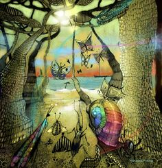 "Balduino e la dea ""Golagorropu"" Surrealism, Artworks, Painting, Art Pieces, Paintings, Draw, Drawings, Art"