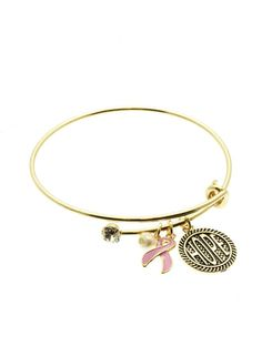 Bangles & Charms (breast cancer) / GAUDY GIRLZ HEAVEN