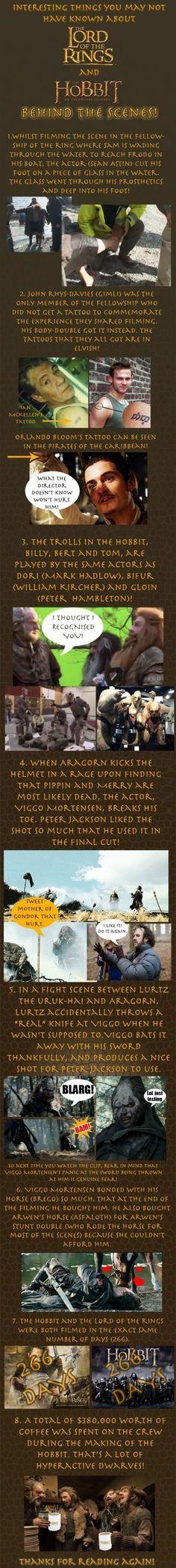 Lotr & Hobbit Behind the Scenes Facts