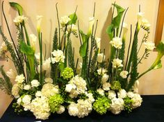 Beautiful Arrangement in Green & White
