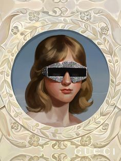 Created by artist Ignasi Monreal, the dreamy Gucci Hallucination campaign features a woman wearing a pair of acetate frames embellished with crystals and studs. Fashion Tape, Fashion Models, Gucci Wallpaper, Alessandro Gucci, Alessandro Michele, Ernesto Artillo, Gucci Ad, John Everett Millais, Gucci Eyewear