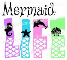 Mermaid Life SVG - Sea Life SVG - Mermaid SVG - Digital Cutting File - Vector - Cricut Cut - Instant Download - Svg, Dxf, Jpg, Eps, Png by cardsandstitches on Etsy