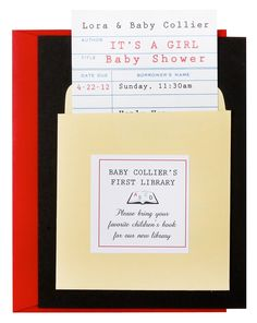 The Library Card Invitation - now available to order.  Email us at info@cardeblanche.com for details.