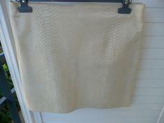 jupe cuir écru GERARD DAREL - T40 - prix initial 350 euros #Minijupesmicrojupes