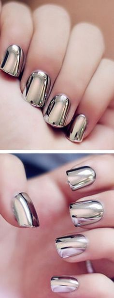 Chrome Nails ❤︎ L.O.V.E
