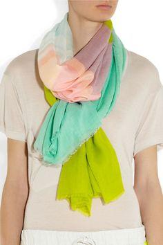 Diane von Furstenberg|Fine-knit modal scarf |NET-A-PORTER.COM