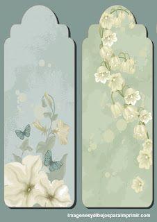 Etiquetas con delicadas flores