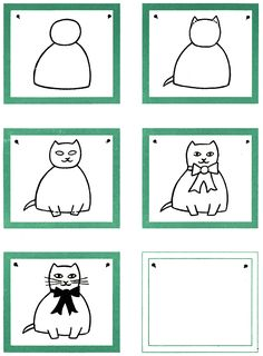 How to Draw a Cat Kids Drawing Lesson.