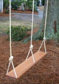 How to make a simple treehouse hope grandma can make this for Love making swing