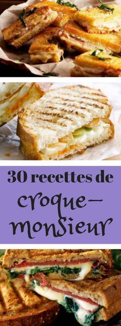 Recipe for croque monsieur croque madame Source by Paninis, Batch Cooking, Cooking Time, Breakfast Sandwich Recipes, Vegan Breakfast, Sandwiches, Brunch, Vegan Recipes, Cooking Recipes