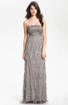 Sue Wong Embellished Strapless Tulle & Mesh Gown available at Nordstrom