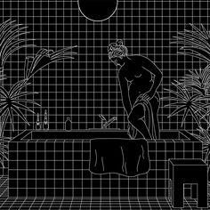 ilustraciones en blanco y negro: Fabiola Morcillo, Chile #MariaVictrix