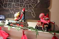 These elves took the Elf Express with some of their favorite toys and of course the ornament they get to pick out every year for the tree