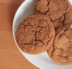 chewy molasses cookies | greens & chocolate
