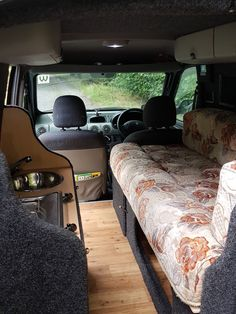 Renault Kangoo micro camper travel van. Self converted as an economical and practical camper for travelling the UK and Europe.