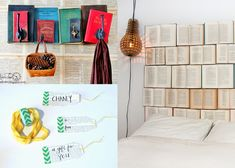 Here are some great craft projects to try your hand at if you've got a stack of old books begging to be turned into something new and beautiful!
