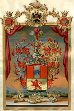 Austrian Grant of Nobility and of Arms to Freiherrn von Csollich, 15 September 1810.