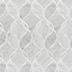 Artistic Tile | Bianco Carrara Claridges Stone & Shell Water Jet Mosaic | Claridges Collection