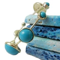 Love Turquoise and gold together.  Blue Bubbles Bangle