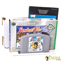 Snowboard Kids Nintendo Player's Choice Edition Boxed Instructions - PAL NM for sale Nintendo 64 Games, Nintendo N64, Game Sales, Games Consoles, Video Game Console, Snowboard, Choices, Video Games, Kids