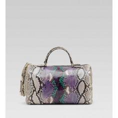 Gucci 282302 Soho Medium Boston Bag Grape Multi-Color BXS