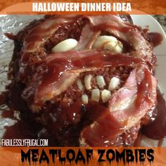 Halloween Dinner Idea:  Meatloaf Zombies