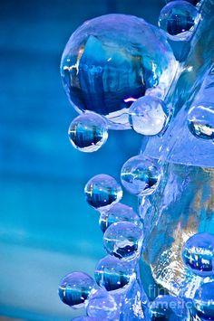 Blue Ice Bubbles Photograph - Blue Ice Bubbles Fine Art Print