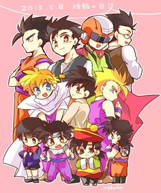 Gohan and Videl Dragon Ball Gt, Goku Y Chichi, Goten E Trunks, Chibi, Super Movie, Funny Dragon, Banana Bus Squad, Otaku, Fan Art