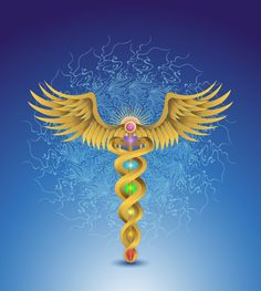 The Sacred Centers Caduceus Chakra Graphic | Zack Darling Creative ...