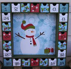 Snowman Christmas Advent Calendar
