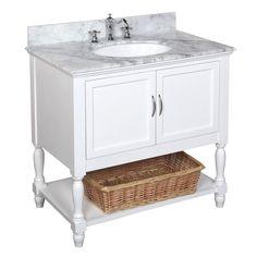 "Kitchen Bath Collection Beverly 36"" Single Bathroom Vanity Set"