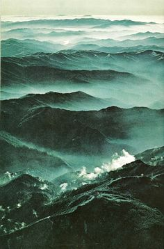 T-SHIRT PRINT IDEA  vintagenatgeographic:    Great Smoky Mountains  National Geographic   October 1968