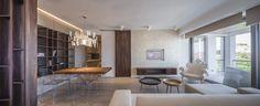 Warm Colors in a Feminine Apartment Design in Bucharest, Romania - Love Home Decor Feminine Apartment, Bright Apartment, Apartment Design, White Armchair, Large Beds, Love Home, Design Case, Warm Colors, Contemporary