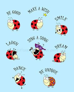 The Lady Bug ToDo List 8x10 matte print by martinjovev on Etsy, $18.50