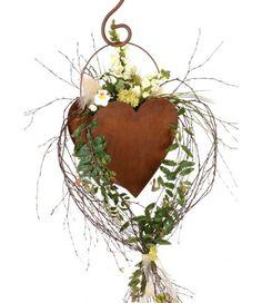 DEWOGA Herz doppelt Hängen 17x17cm Edelrost Rost Metall Blumen Befüllen Garten Deko Neu  - 2-flowerpower Metal Projects, Metal Art, Plant Hanger, Garden, Home Decor, Dekoration, Garden Art, Valentines Day, Flowers