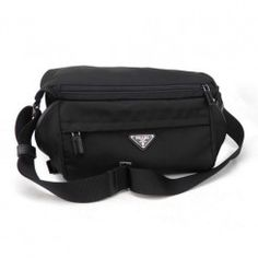 3b360bea97b5 Prada Medium Tessuto Nylon Messenger Bag VA0994 Black (Nero) Prada  Messenger Bag