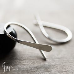 Open Hoops Earrings - Forged Open Hoops in sterling silver. $37.00, via Etsy.