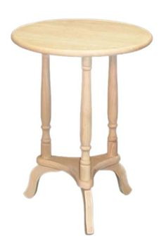 Small Plant Stand Resembles Early American Candle Stands Unfinished Coffee Table Dining