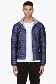 DUVETICA Deep purple quilted Acelo jacket