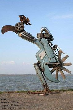 53 Eco-Friendly Sculptures - From Junk Yard Critter Sculptures to Recycled Chair Leg Sculptures (TOPLIST)