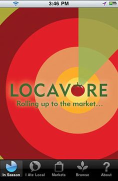 """""""LOCAVORE, A Seasonal, Local Food Network[...] Pinpoint nearby farmers' markets & farms that sell the products you love. Discover seasonal recipes. Share it all on Facebook. Yup, it's free."""""""