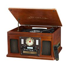 (Victrola VTA-600B Mahogany Record Player Turntable, Mahogany) Buy-Accessories.net