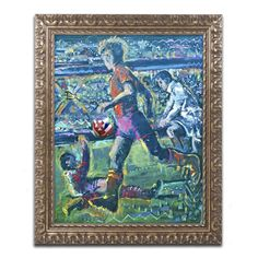 World Cup Dream by Lowell S.V. Devin Framed Painting Print