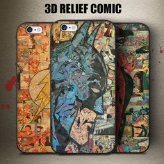Comic Style The Flash Batman Harley Quinn Phone Case Conque SE 6 Plus Cover For iPhone Awesome Heroes Relief Fundas Harley Quinn, Batman, 5s Phone Cases, O Flash, 6 S Plus, Dc World, Comic Styles, Iphone 5s, Superhero
