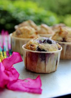 Blueberry white chocolate chip muffins! (I know someone who will love these)