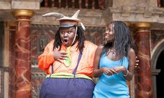 A rolly-polly Falstaff spearheads a visually intoxicating Merry Wives of Windsor, performed in Swahili and brought to the Globe from Nairobi, Kenya, by the Bitter Pill company.