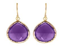Beautiful Amethyst Teardrop Earrings - Sterling Silver Guilded by StartJewellery on Etsy